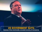 US administration blames China for intentionally concealing severity of COVID-19