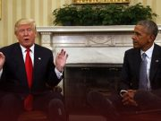 Former and current Presidents Obama and Trump exchange blows