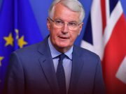 Brexit chief EU negotiator Barnier arrives in UK for in-person talks